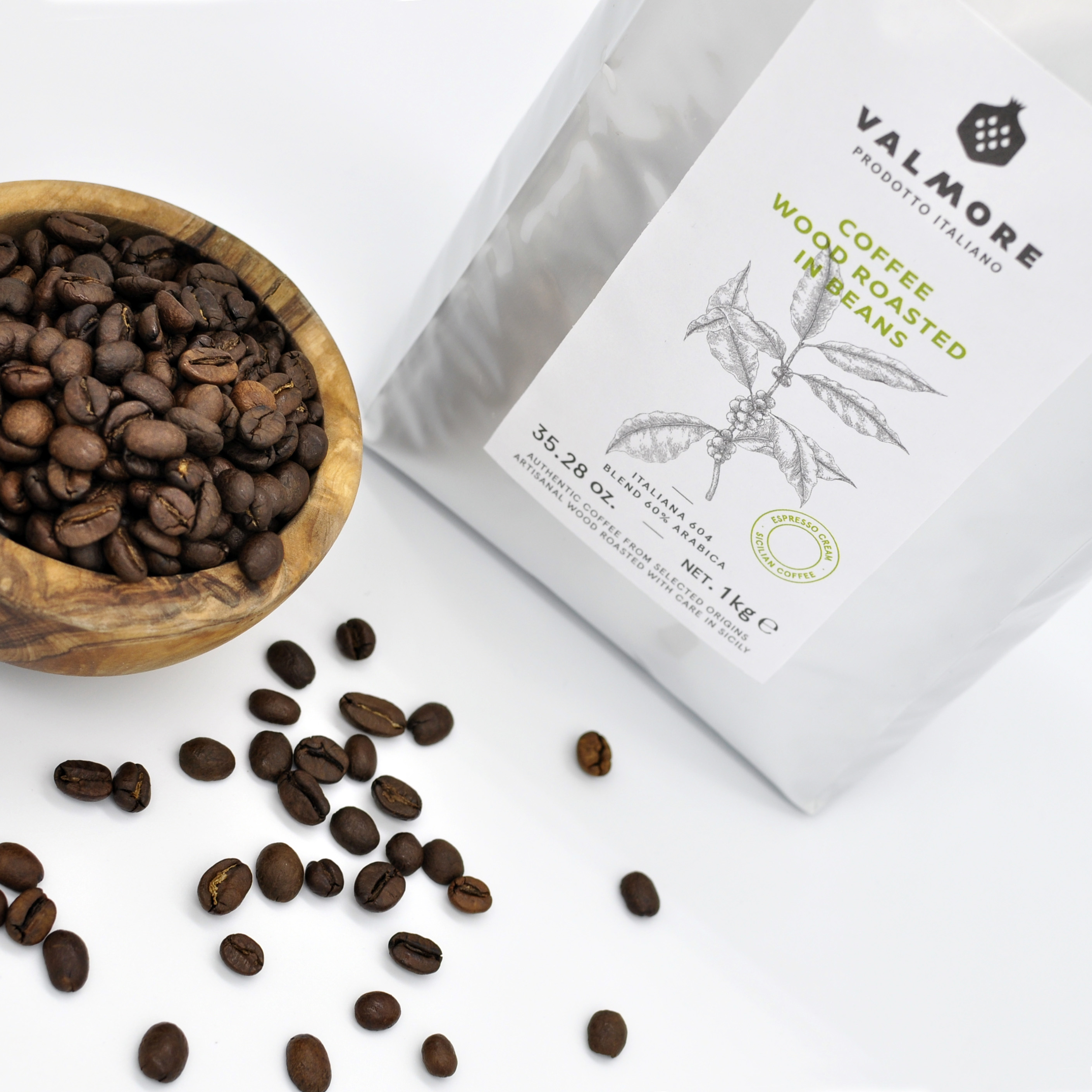 VALMORE 604 Arabica 60% wood roasted in Sicily FRESH