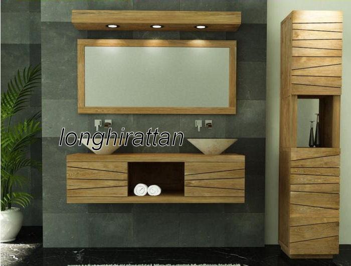 Mobili bagno legno massello su misura