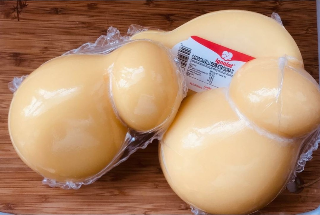 "Caciocavallo Semi aged (21.16 oz) average weight ""Imported from Italy"""