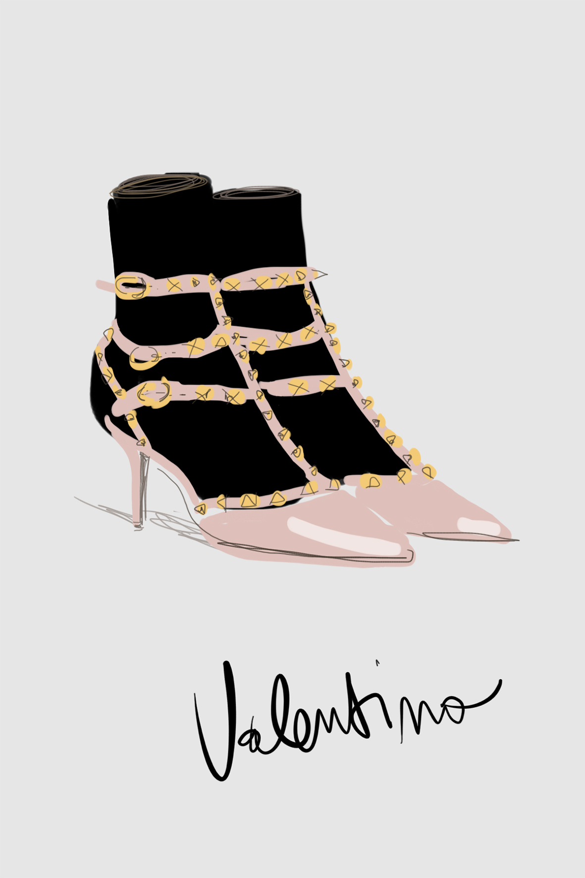 Fashion icon - Open Toe Illustration by Silvana Mariani
