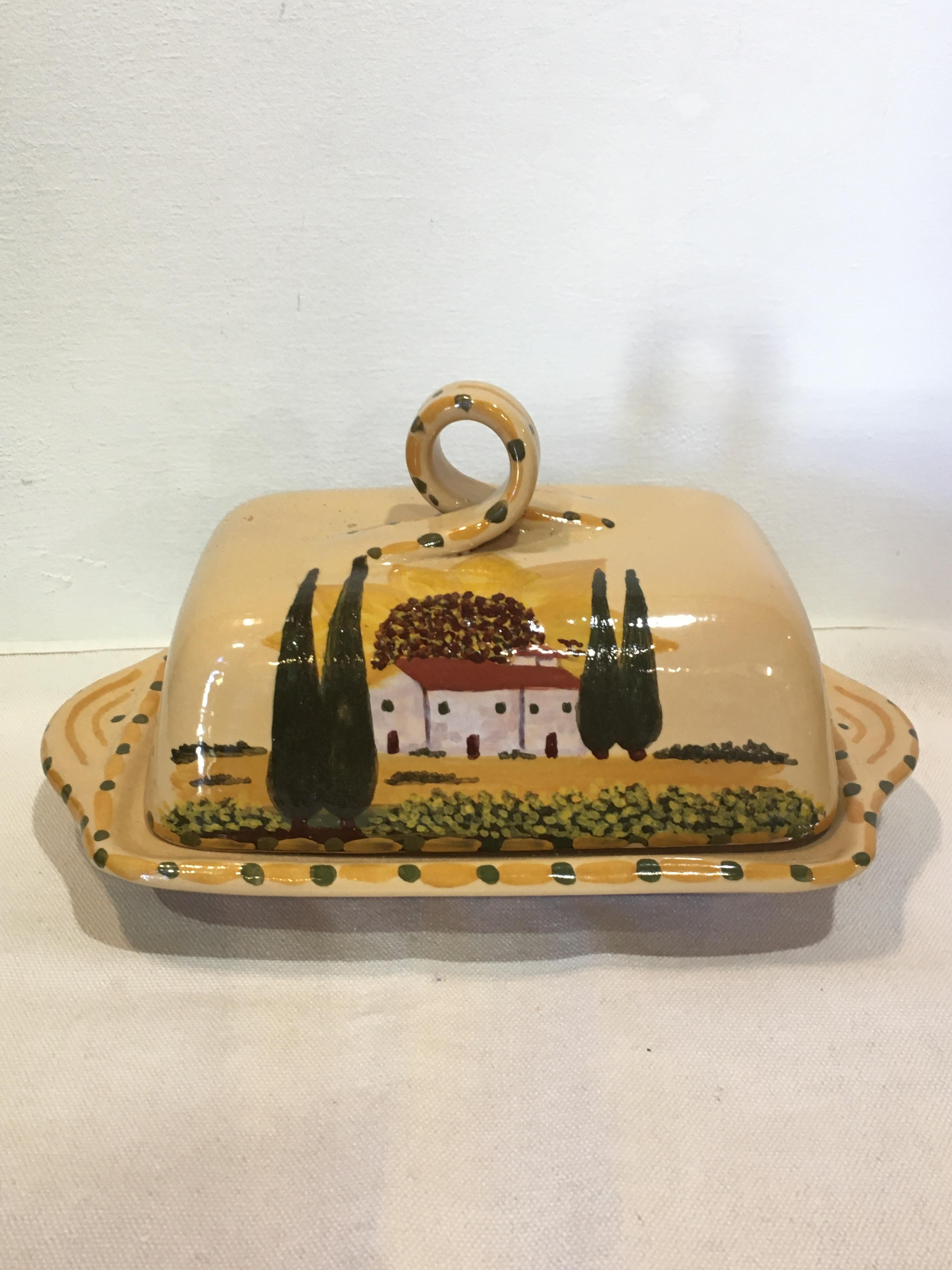 Tuscany butter dish