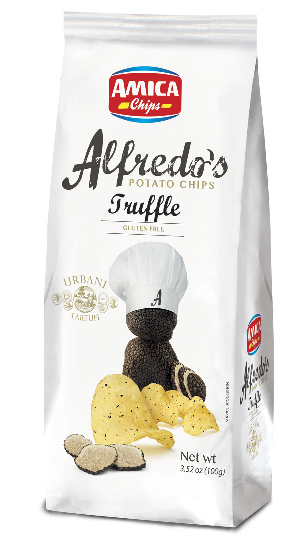 Amica Chips ALFREDO'S CHIPS BLACK TRUFFLE 100gr (3.52oz)