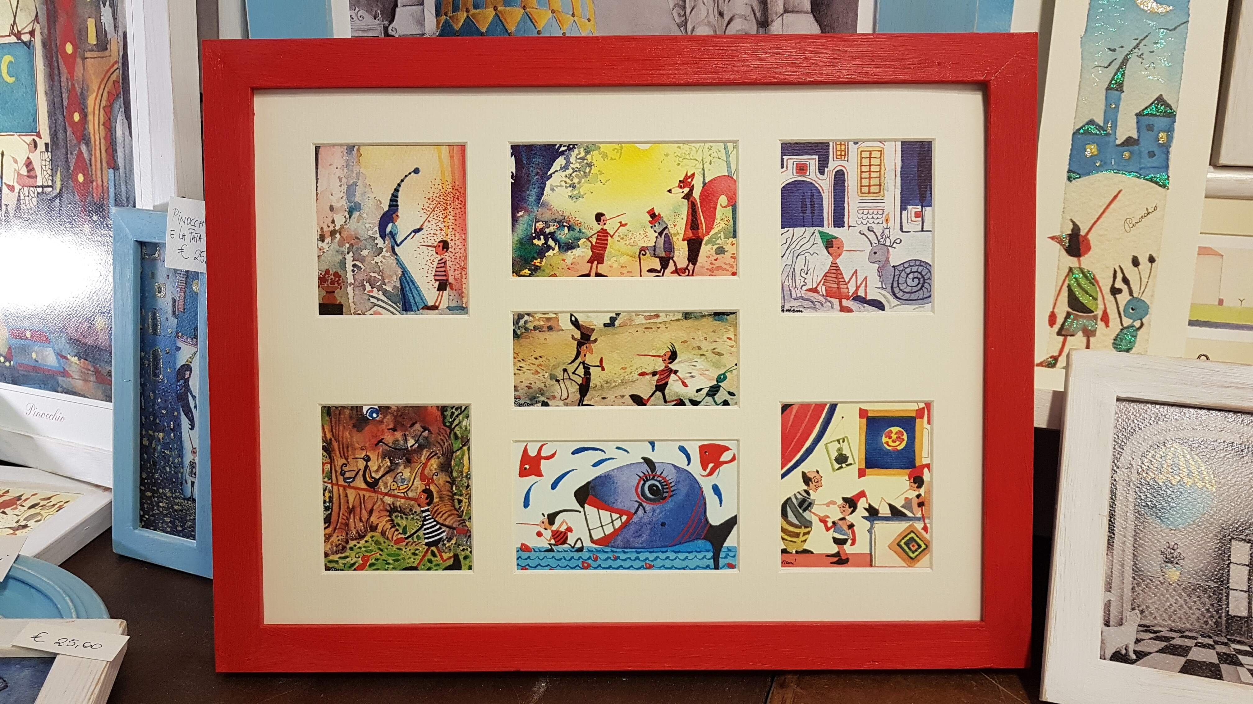 La storia di Pinocchio con cornice - The story of Pinocchio with frame