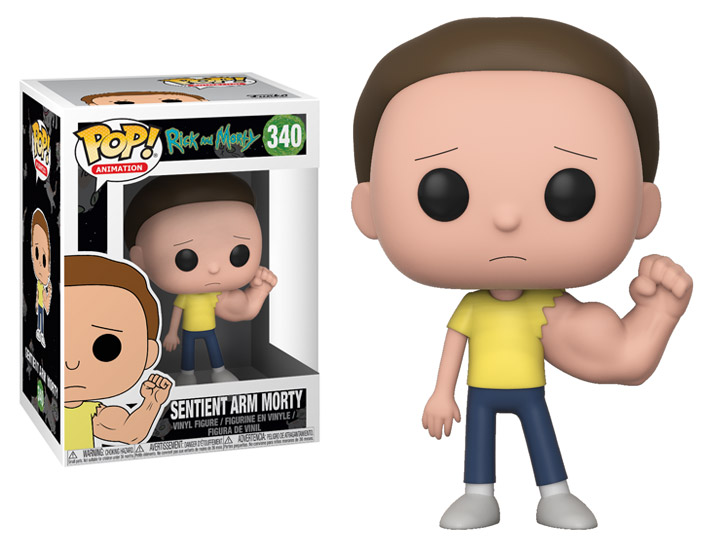 FUNKO POP SENTIENT ARM MORTY #340 RICK AND MORTY ANIMATION