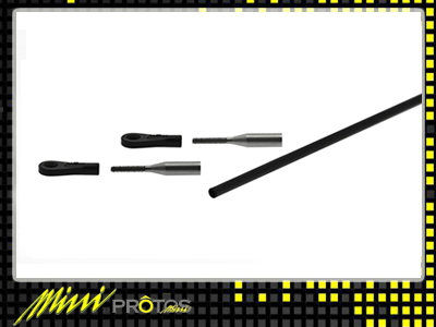 MSH41024 TAIL CONTROL ROD SET MINI PROTOS