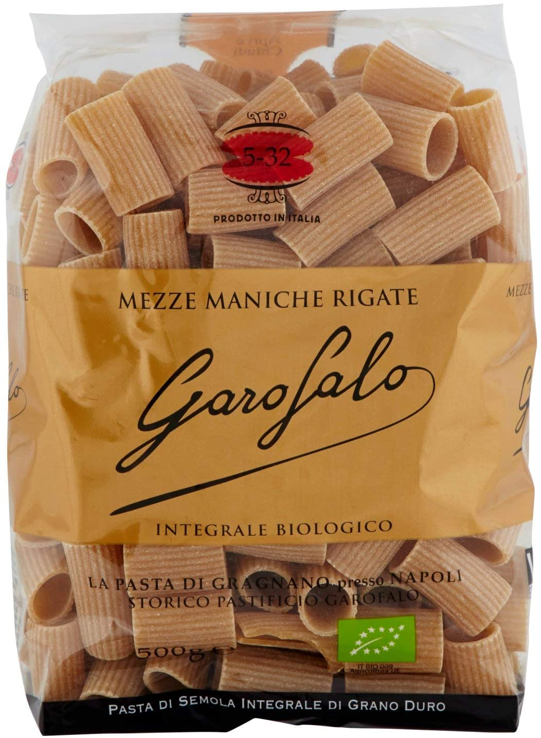 Garofalo MEZZE MANICHE Whole Wheat Pasta - 16 oz. Imported from Italy