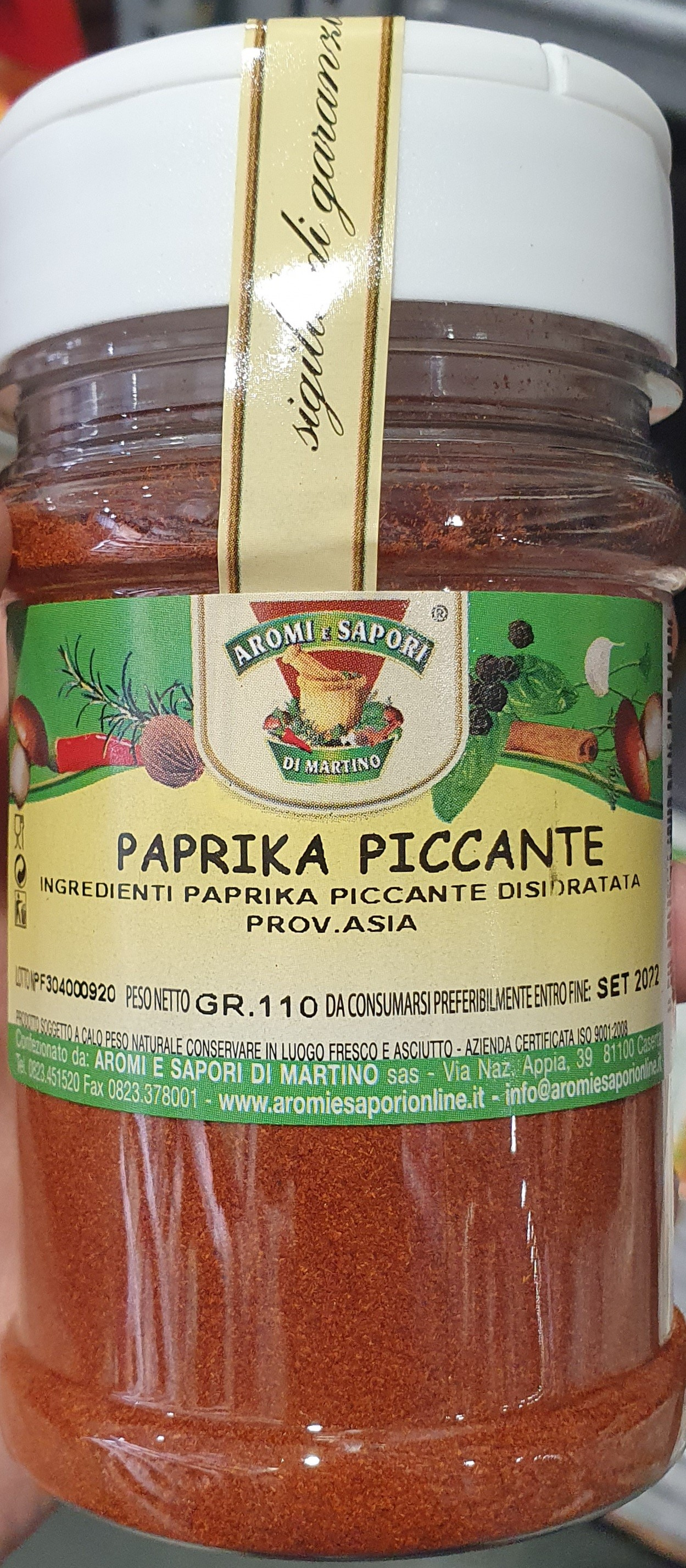 Hot Paprika 130gr (4.58 oz). Imported from Italy