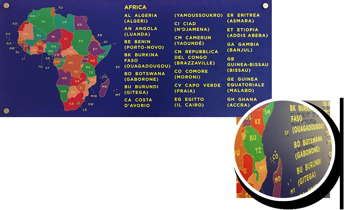 Cartina Giografica Africa.Handysystems Braille