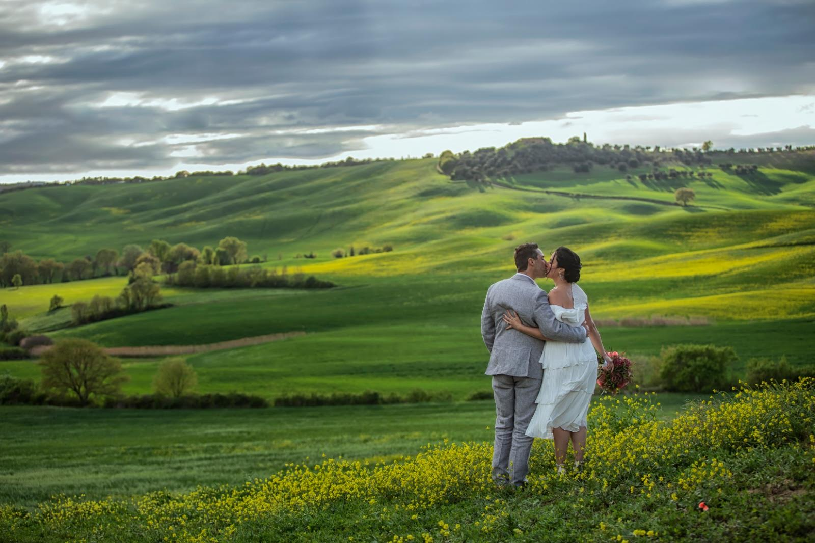Colleen & Riley - Elopement in Val d'Orcia 28th April 2019