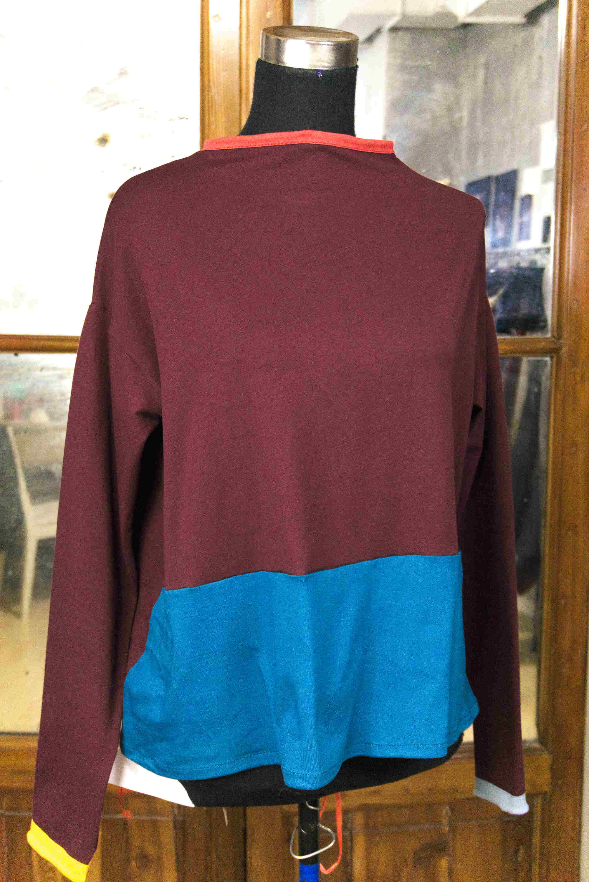 wide t-shirt with turtleneck