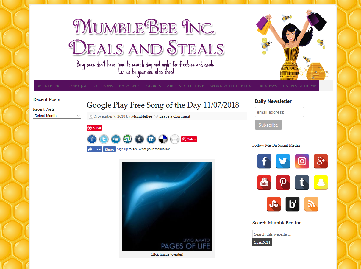Mumble bee Inc - Deals and Steals