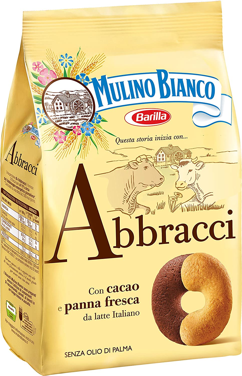 "Abbracci Cookies 350gr (12.34oz)  by Mulino Bianco ""Imported from Italy"""