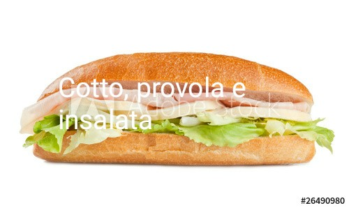 Panino: Cotto, Provola, Insalata