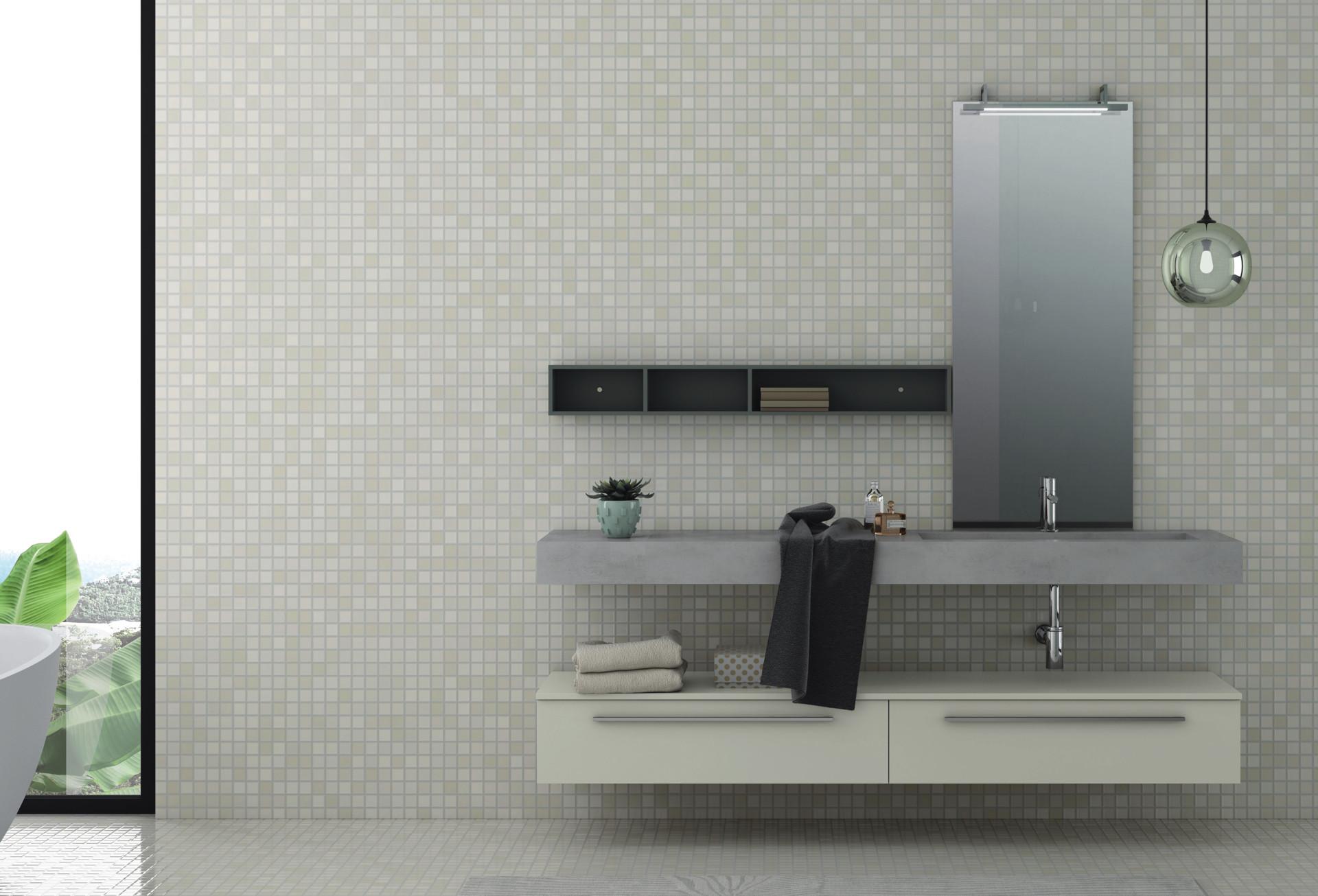 Color Tortora Ral 7044 laldesign - bagno sistema maniglia