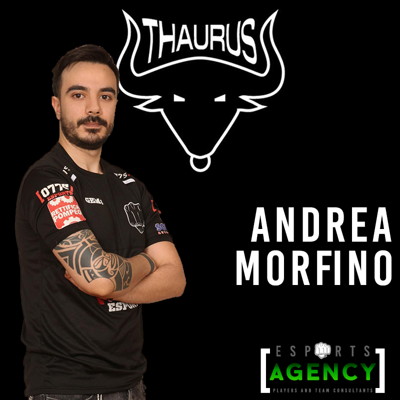 OFFICIAL STATEMENT #3 - Nasce Thaurus eSports powered by 0775. Andrea Morfino primo Player del Team.