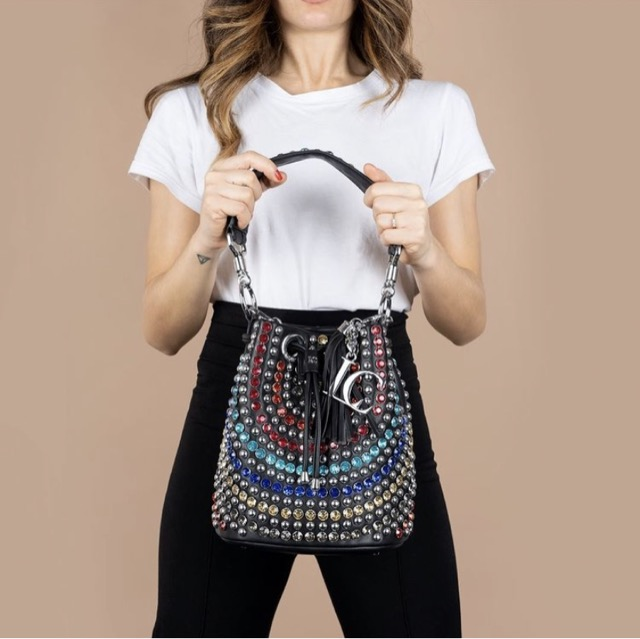 SECCHIELLO MULTICOLOR MIRROR BUCKET SYNTHETIC LA CARRIE BAG