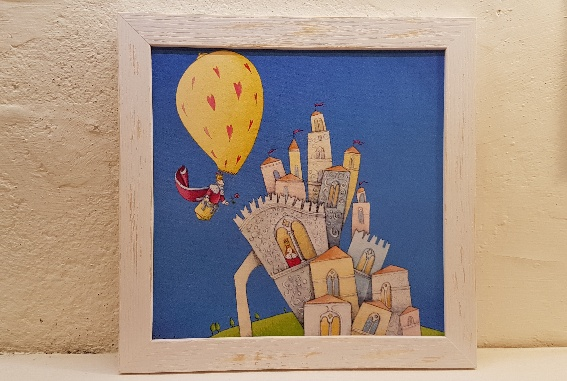 Amore al castello con cornice, love in the castle with frame