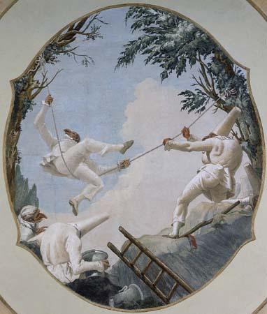 Altalena di Pulcinella 1793 Giandomenico Tiepolo Ca Rezzonico veneziajpg