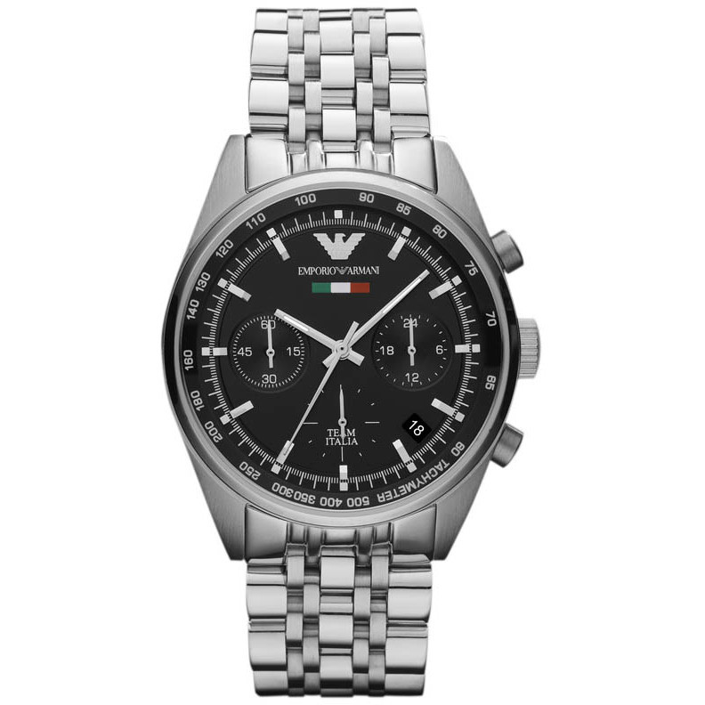 Emporio Armani Black Stainless Steel  Men's Wristwatch 36MM AR5984