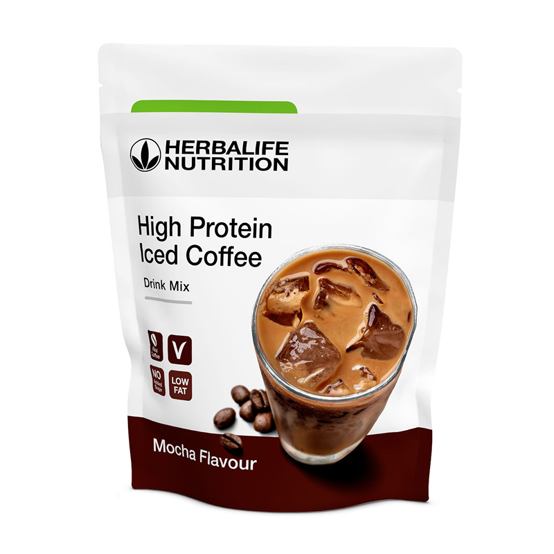 High Protein Iced Coffee Gusto Mocha