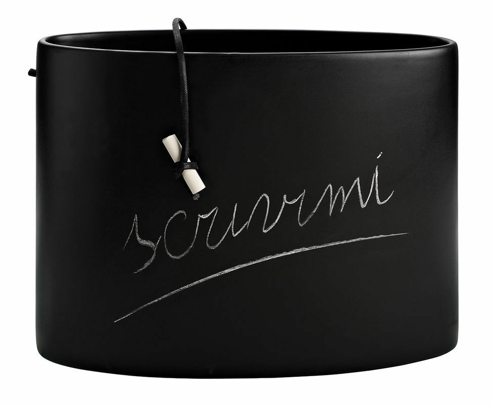 Creativando Vaso lavagna in ceramica nero dim. 31,5 x 8 x 23,5 Free words
