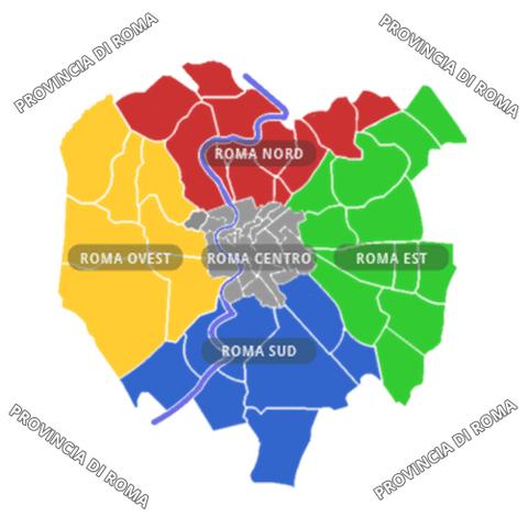 Cartina Roma Nord.Roma Est Mappa