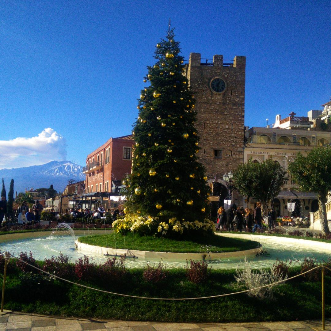 New Year Tree in Taormina