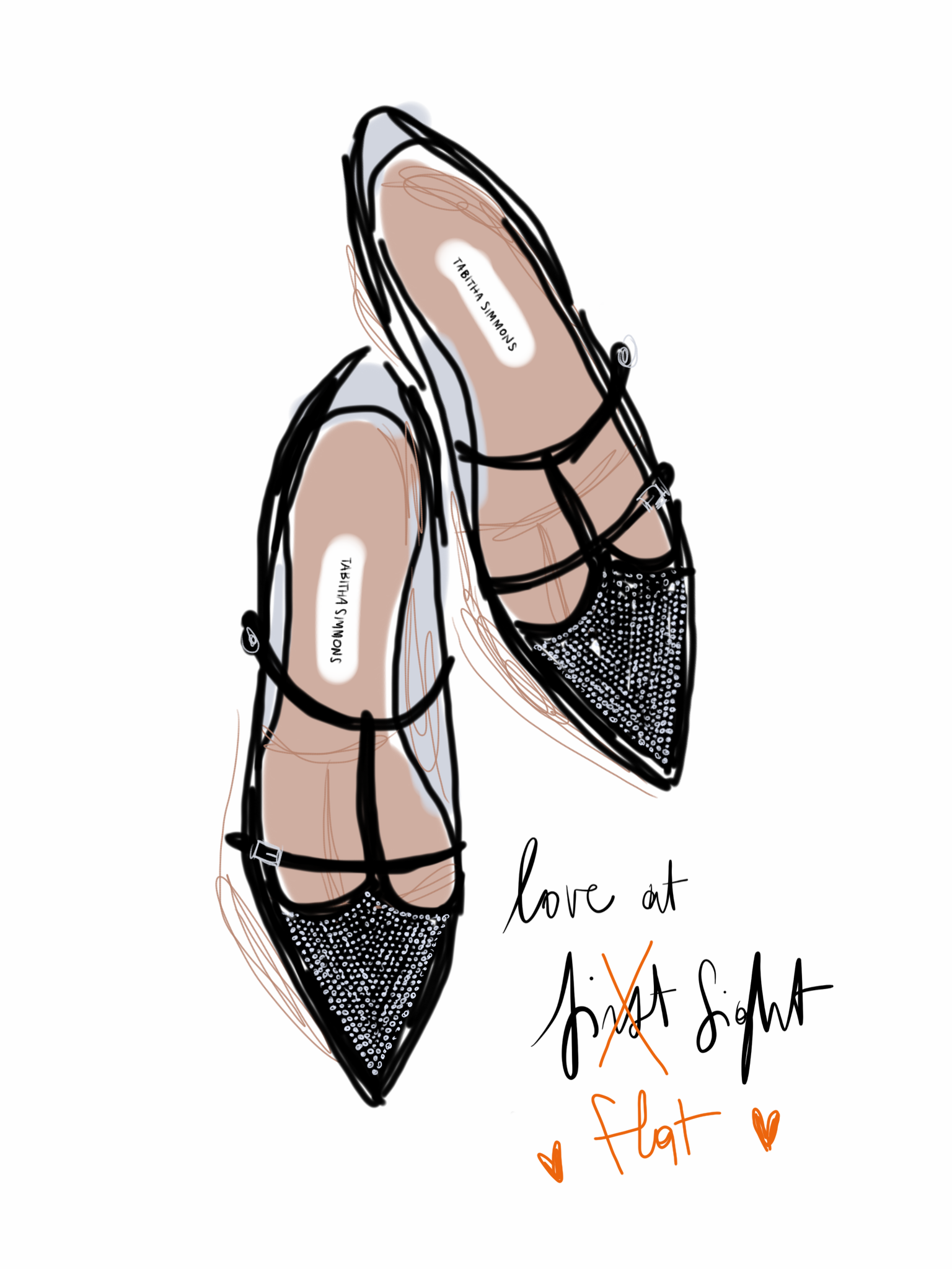 Doodle - Open Toe Illustration by Silvana Mariani
