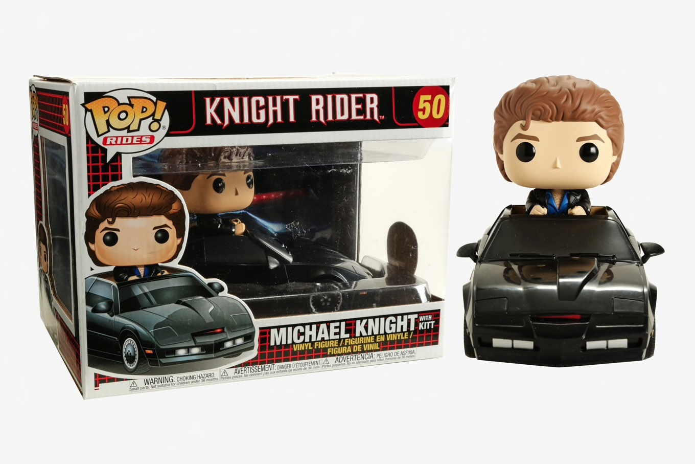 FUNKO POP KNIGHT RIDER #50 MICHAEL KNIGHT + KITT MOVIES