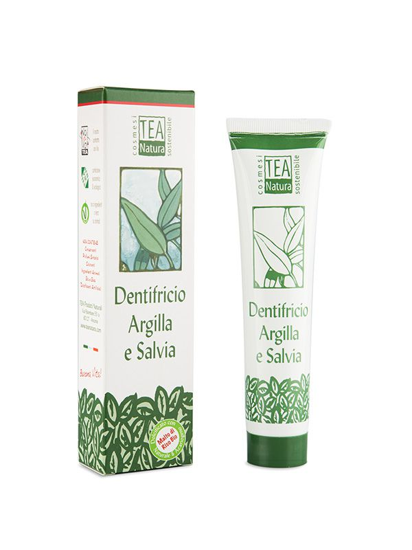 Dentifricio Argilla e Salvia 75ml Tea Natura