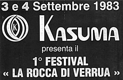 livio amato radio chivasso international festival rock la rocca di verrua savoia 1983