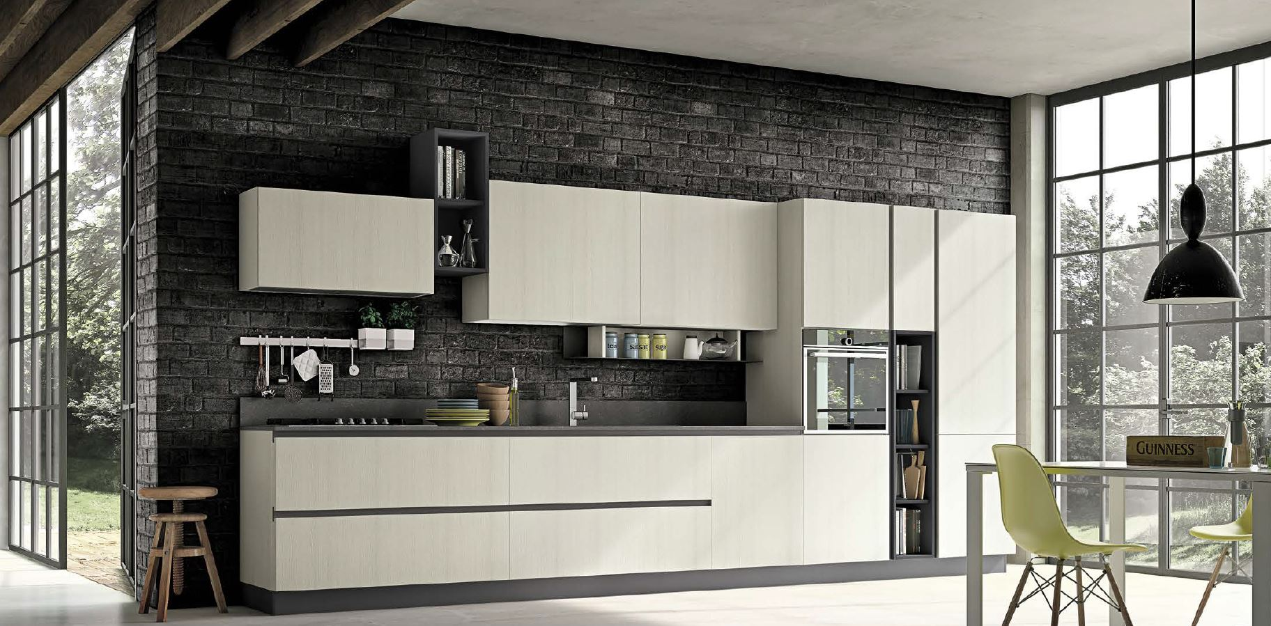Cucine in stile moderno su misura tetesi arredamenti for Arredamenti da interni moderni