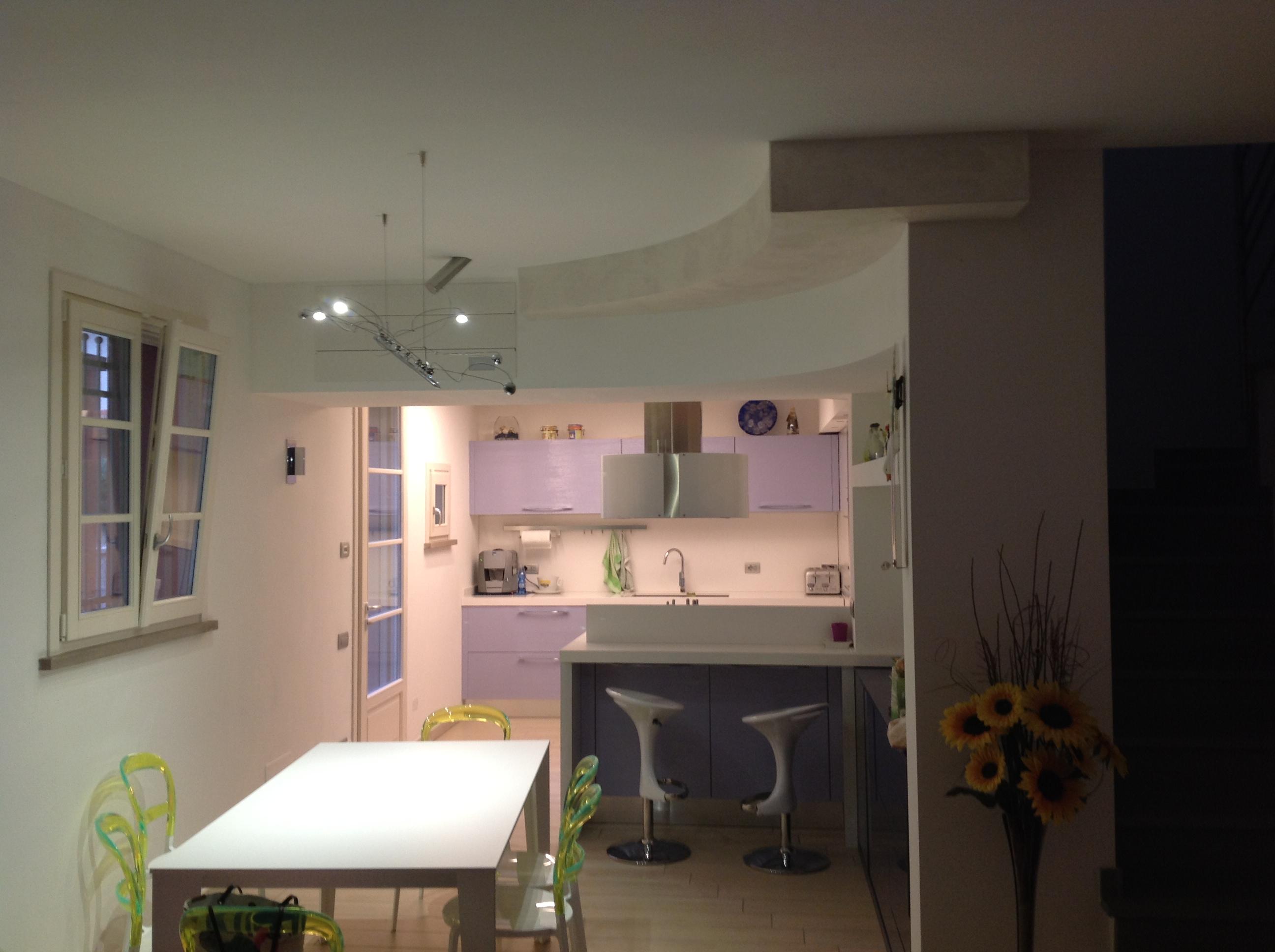 Soffitti Alti Illuminazione : Controsoffitti con lampadari design della luce ruffini