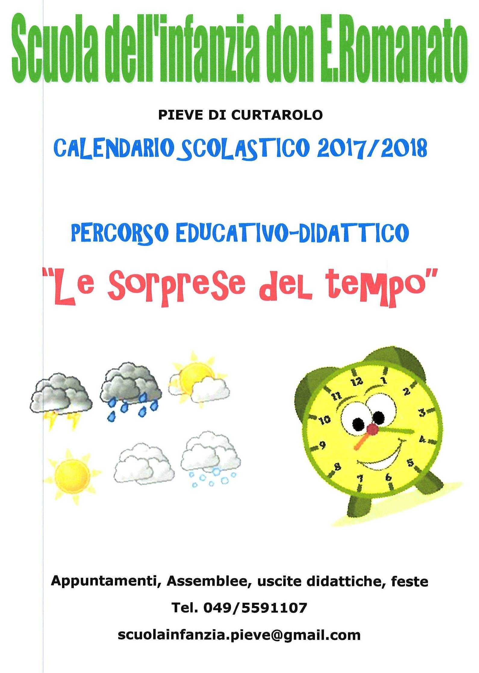 Calendario Del Tempo Scuola Infanzia.Scuola Dell Infanzia