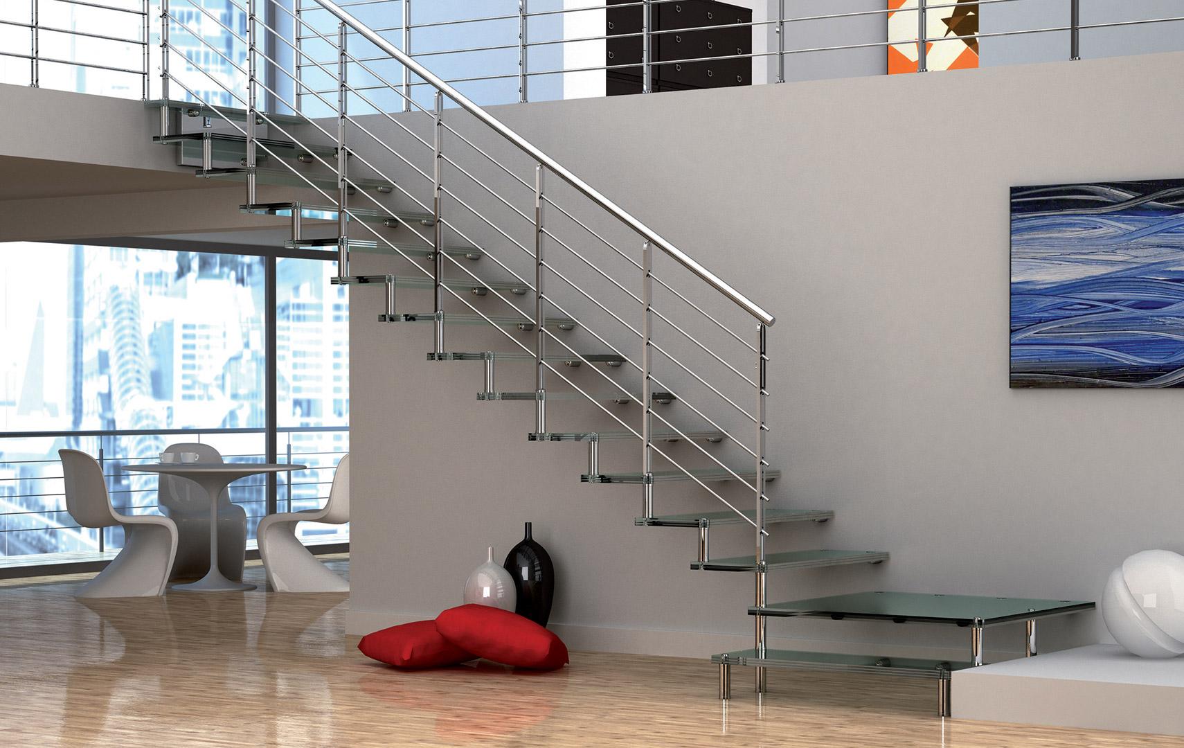 Casaloft scale interne a giorno - Scale in vetro e acciaio prezzi ...