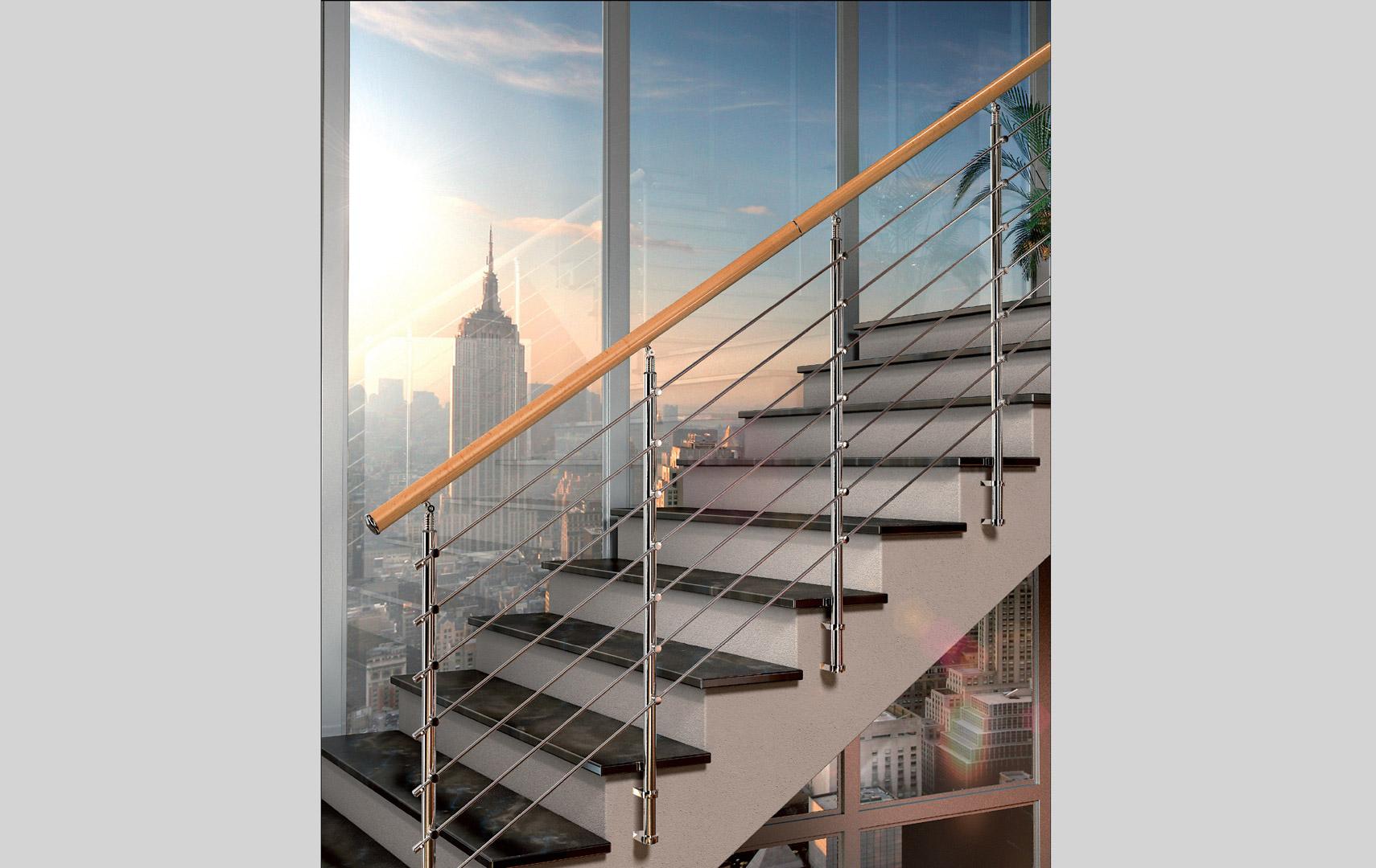 Casaloft balaustre e ringhiere - Ringhiere scale interne in legno ...