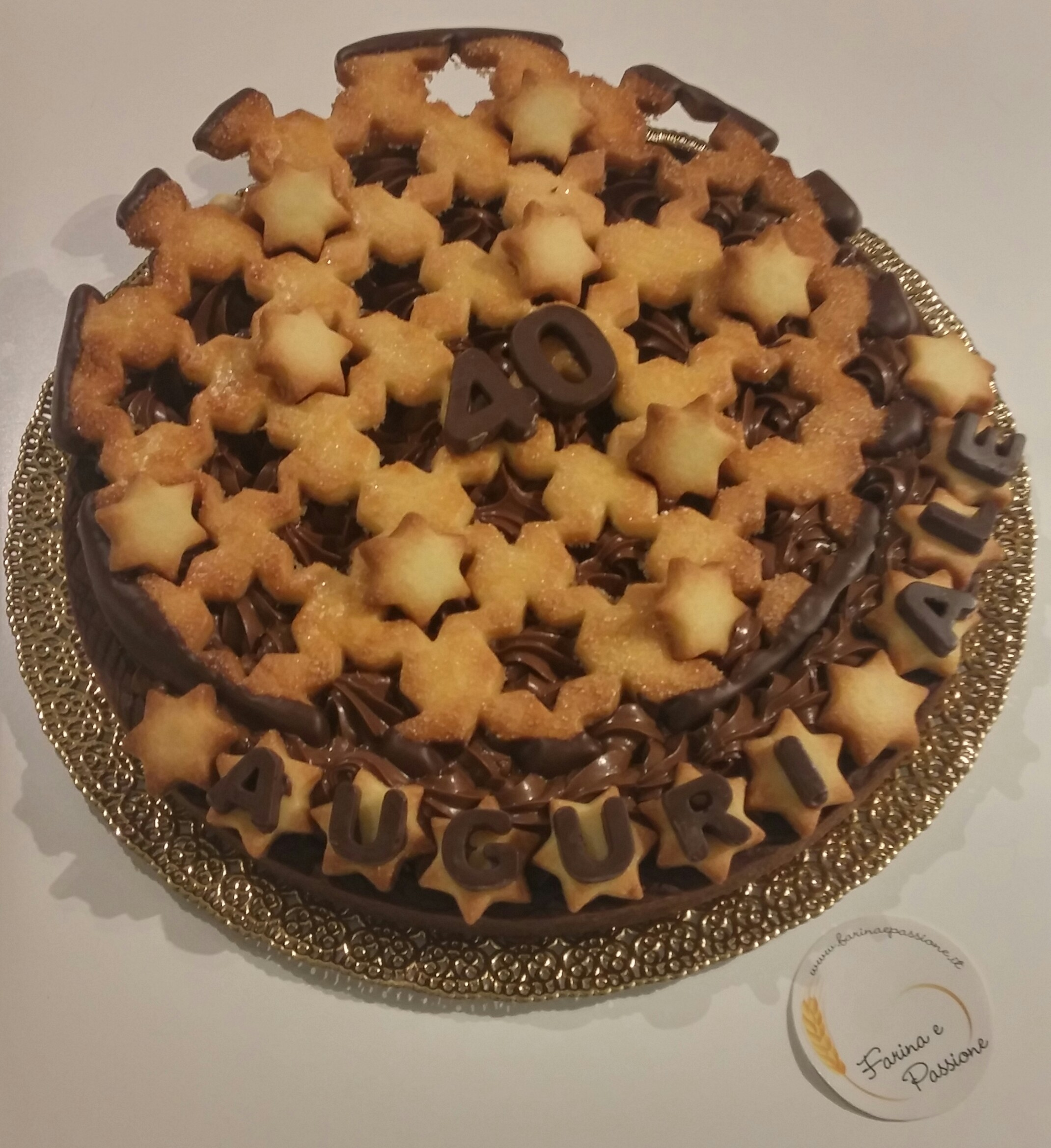"Crostata gianduia ""Auguri Ale"""