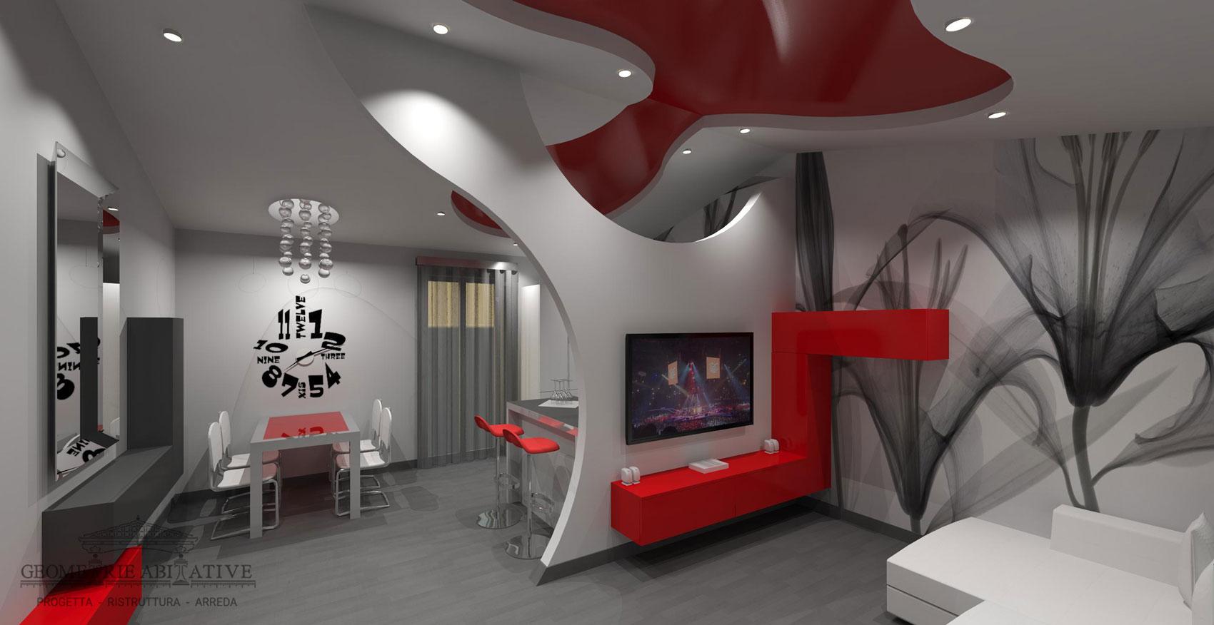 Pareti D Arredo In Cartongesso arredi particolari per casa | geometrie abitative