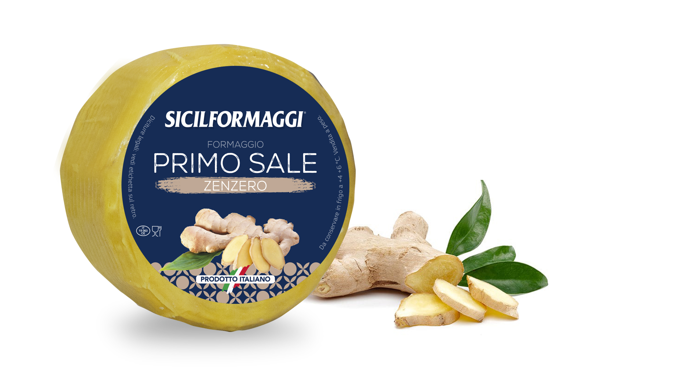 "Pecorino with GINGER Sicilformaggi 250gr (8.8oz) ""Imported from Italy"""