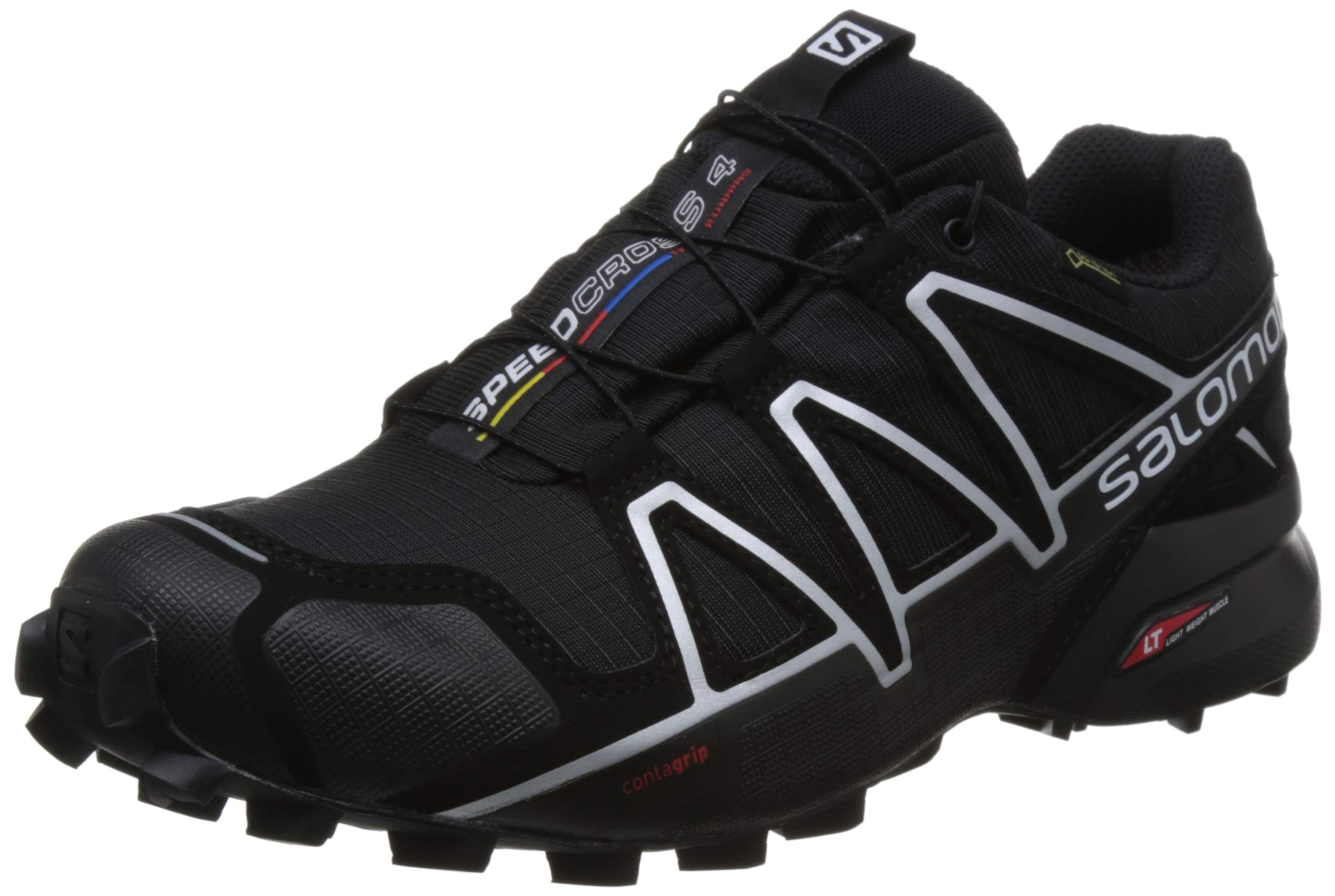Salomon Speedcross 4 GTX, Scarpe da Trail Running Uomo, Nero (Black/Black/Silver Metallic-X)-383181