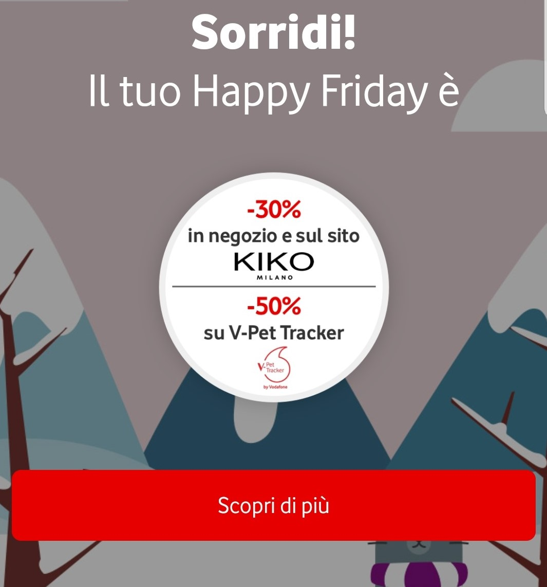 Sconto del 30% KIKO con Vodafone Happy