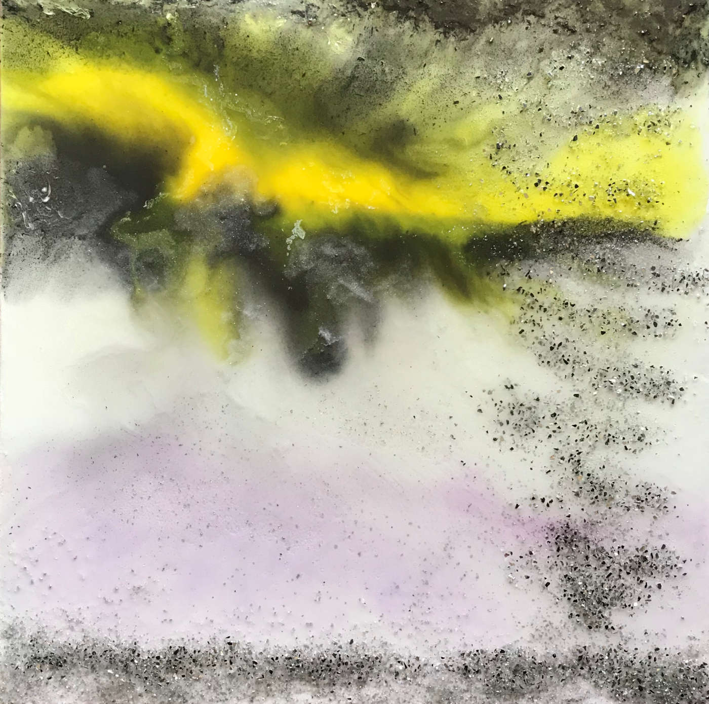 """Tormenta"" – cm 70x70 - resin fluid painting - Quotazione € 850,00"