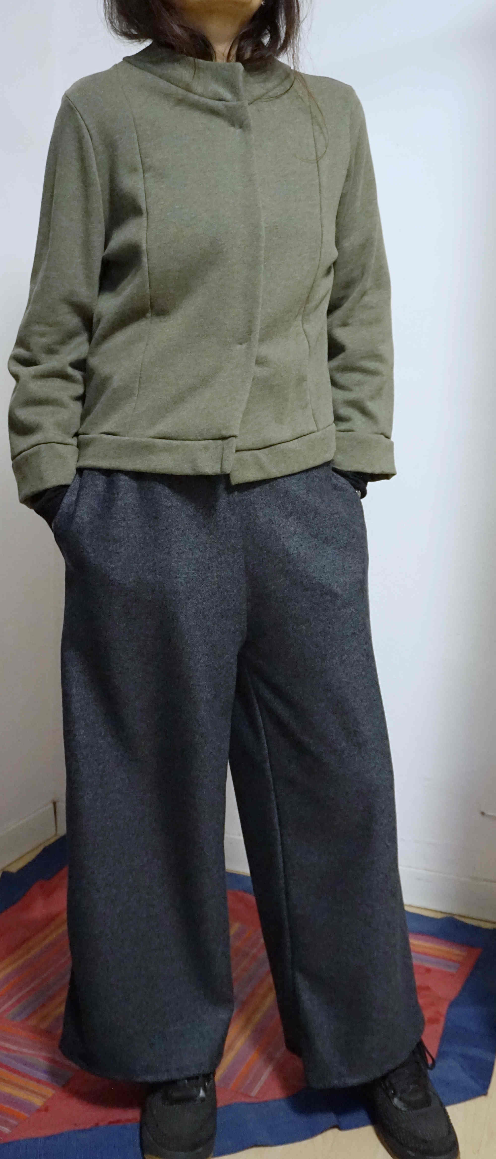 boiled wool trousers