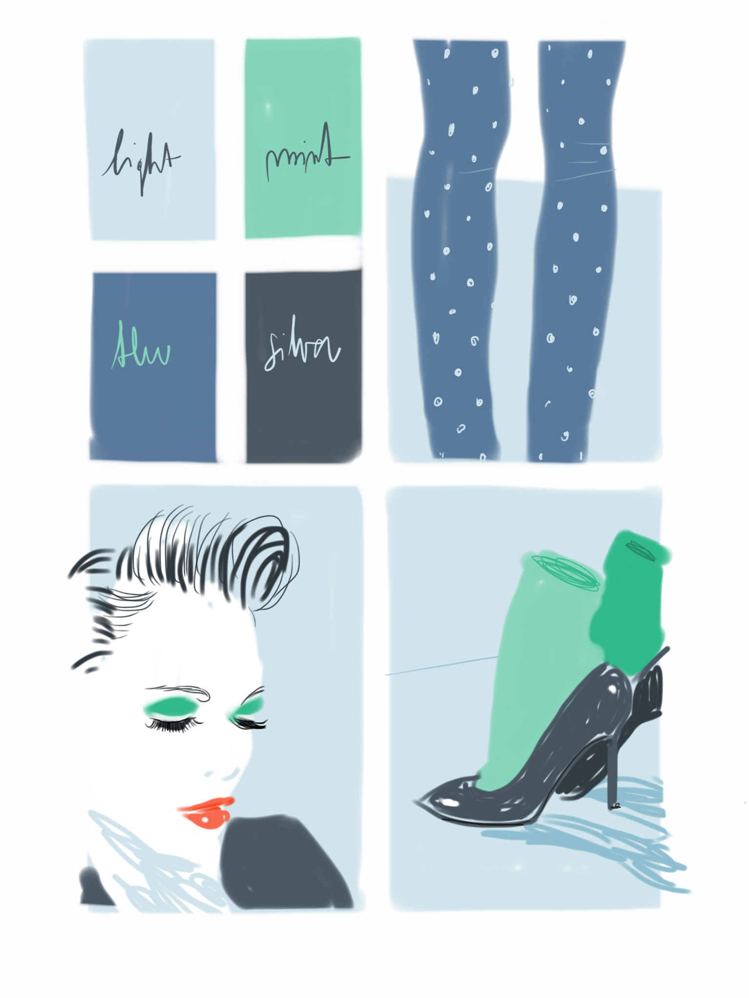 Fashion - Open Toe Illustration by Silvana Mariani