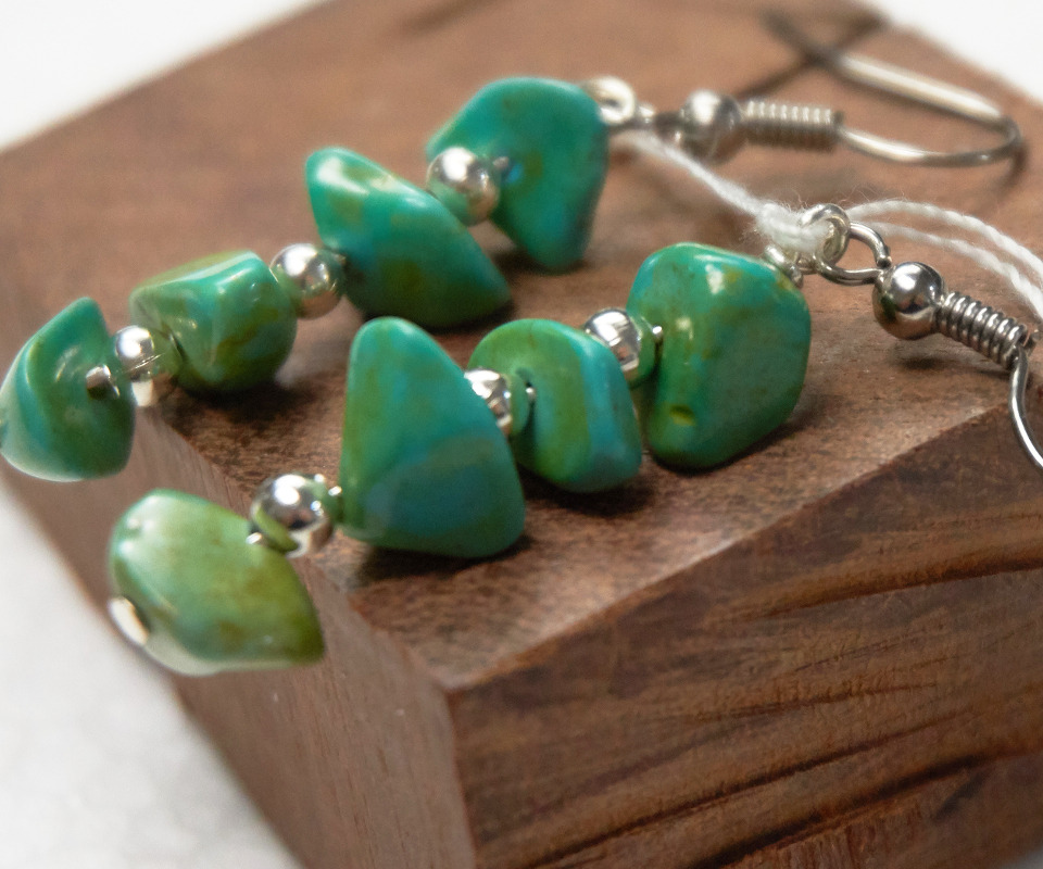 abside earrings with turquoise