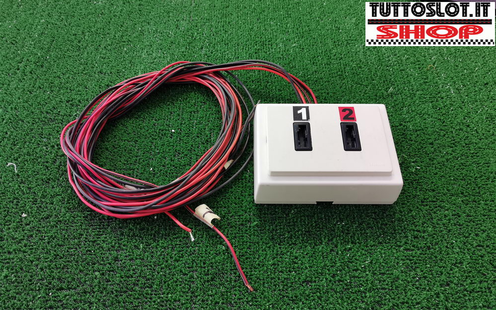Pulsantiera doppia con prese magic esterna - External double power outlet for magic power plug