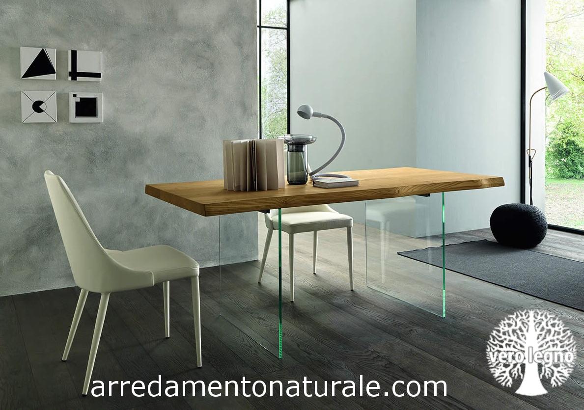 Tavoli In Pietra E Cristallo.Credenze E Tavoli In Vero Legno Massello Su Misura