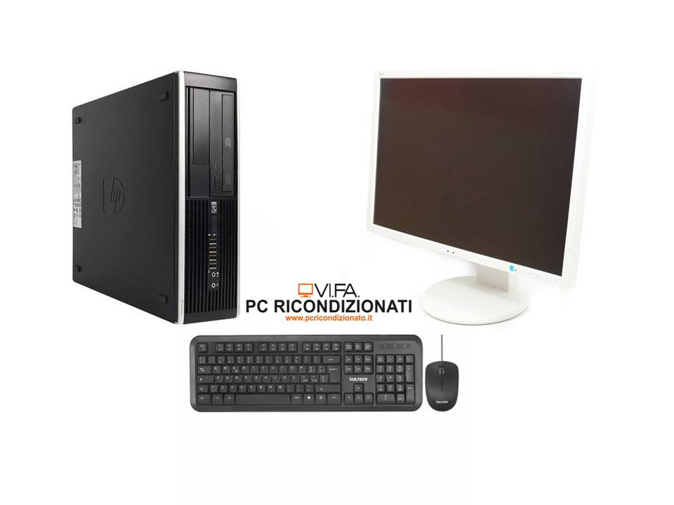 "Postazione completa Monitor 24""+ PC i3 Ram 8gb hdd 500 win 10+Tastiera e Mouse"