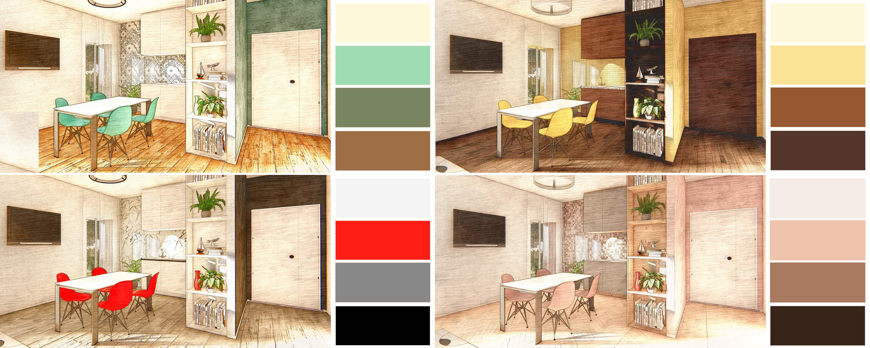 Virtual Staging italia: Render artistico e prova colore