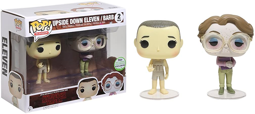 FUNKO POP UPSIDE DOWN ELEVEN / BARB (TWO PACK) STRANGER THINGS 2017 SPRING COLLECTION EXCLUSIVE